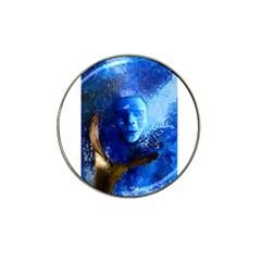 Blue Mask Hat Clip Ball Marker (10 Pack)