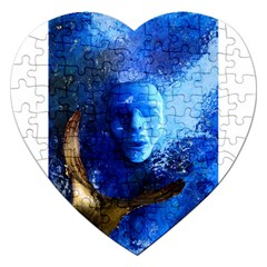 Blue Mask Jigsaw Puzzle (heart)