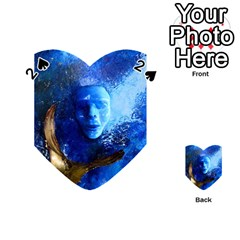 Blue Mask Playing Cards 54 (heart)