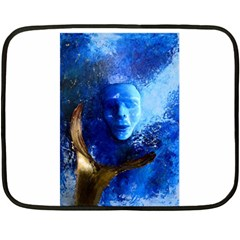 BLue Mask Fleece Blanket (Mini)