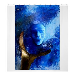 BLue Mask Shower Curtain 66  x 72  (Large)