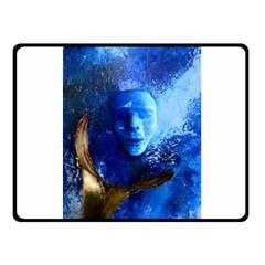BLue Mask Fleece Blanket (Small)