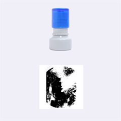 Blue Mask Rubber Round Stamps (small)