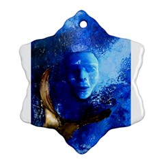 BLue Mask Snowflake Ornament (2-Side)