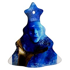 Blue Mask Christmas Tree Ornament (2 Sides)