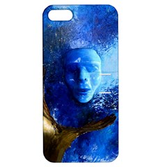 Blue Mask Apple Iphone 5 Hardshell Case With Stand