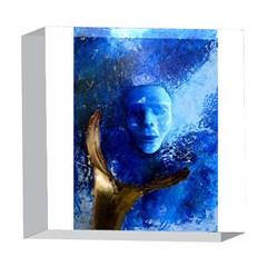 BLue Mask 5  x 5  Acrylic Photo Blocks