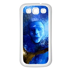 Blue Mask Samsung Galaxy S3 Back Case (white)