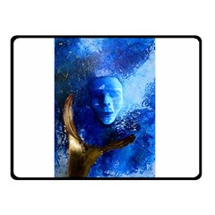 Blue Mask Double Sided Fleece Blanket (small)