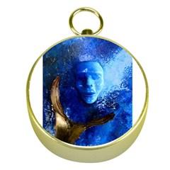 Blue Mask Gold Compasses