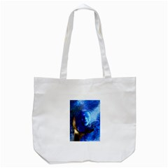 BLue Mask Tote Bag (White)