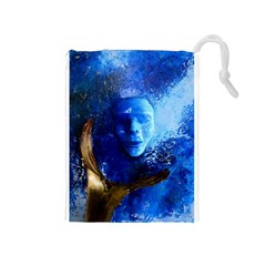 Blue Mask Drawstring Pouches (medium)