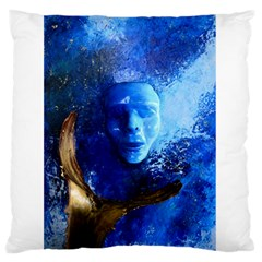 BLue Mask Standard Flano Cushion Cases (One Side)