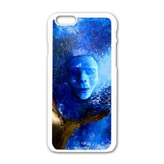 Blue Mask Apple Iphone 6 White Enamel Case