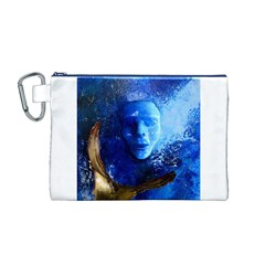 Blue Mask Canvas Cosmetic Bag (m)