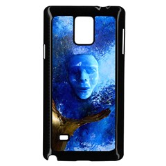BLue Mask Samsung Galaxy Note 4 Case (Black)