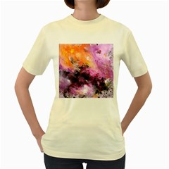 Nebula Women s Yellow T-Shirt