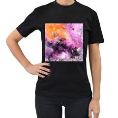 Nebula Women s T-Shirt (Black) (Two Sided)
