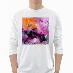 Nebula White Long Sleeve T-Shirts