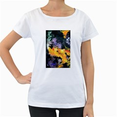 Space Odessy Women s Loose Fit T Shirt (white)