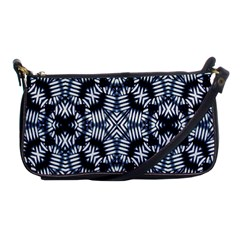 Futuristic Geometric Print  Shoulder Clutch Bags
