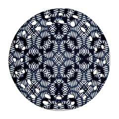 Futuristic Geometric Print  Ornament (Round Filigree)