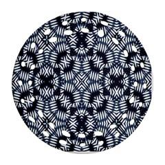 Futuristic Geometric Print  Round Filigree Ornament (2side)