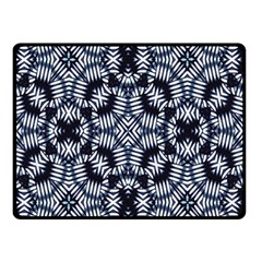 Futuristic Geometric Print  Double Sided Fleece Blanket (small)