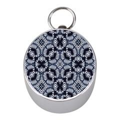 Futuristic Geometric Print  Mini Silver Compasses