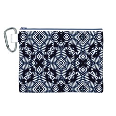 Futuristic Geometric Print  Canvas Cosmetic Bag (L)