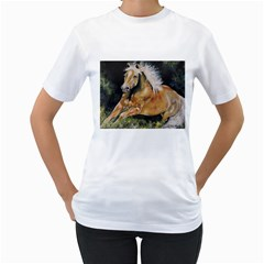 Mustang Women s T Shirt (white) (two Sided)