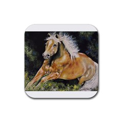 Mustang Rubber Square Coaster (4 Pack)