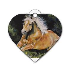 Mustang Dog Tag Heart (two Sides)