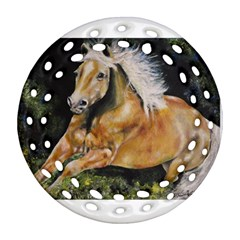 Mustang Round Filigree Ornament (2Side)