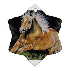 Mustang Snowflake Ornament (2 Side)