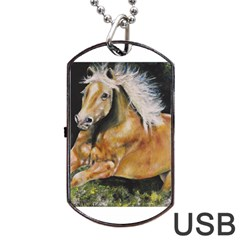 Mustang Dog Tag Usb Flash (two Sides)