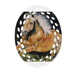Mustang Ornament (Oval Filigree)