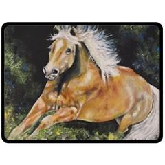 Mustang Double Sided Fleece Blanket (Large)