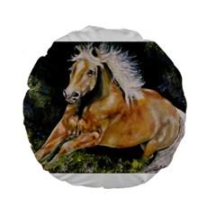Mustang Standard 15  Premium Flano Round Cushions