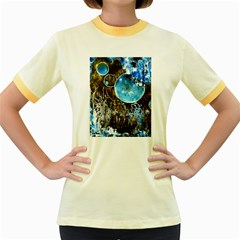 Space Horses Women s Fitted Ringer T-Shirts