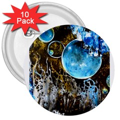 Space Horses 3  Buttons (10 Pack)