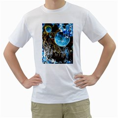 Space Horses Men s T Shirt (white) (two Sided)