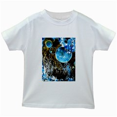 Space Horses Kids White T Shirts