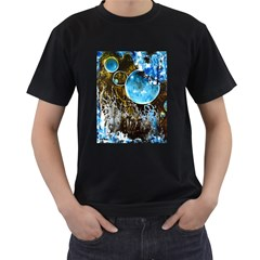 Space Horses Men s T Shirt (black) (two Sided)