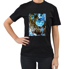 Space Horses Women s T-Shirt (Black) (Two Sided)