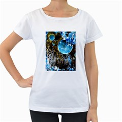 Space Horses Women s Loose-Fit T-Shirt (White)
