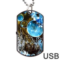 Space Horses Dog Tag Usb Flash (two Sides)
