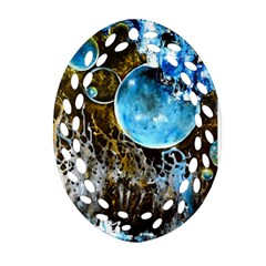 Space Horses Oval Filigree Ornament (2-Side)
