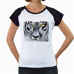 The Eye Of The Tiger Women s Cap Sleeve T