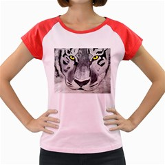 The Eye Of The Tiger Women s Cap Sleeve T-Shirt